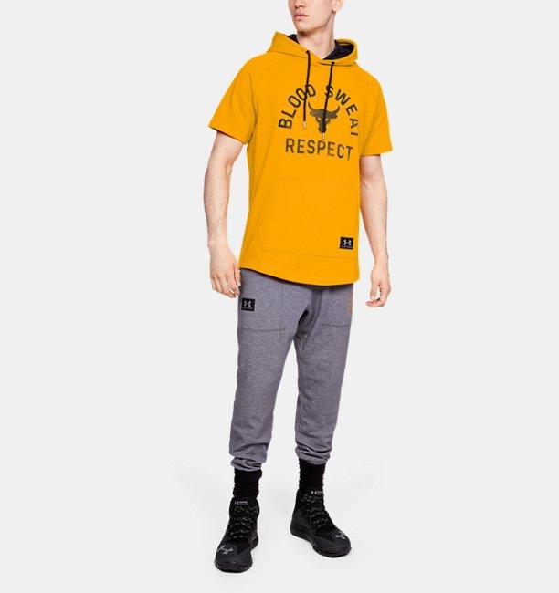 Mens Project Rock Respect Short Sleeve Hoodie
