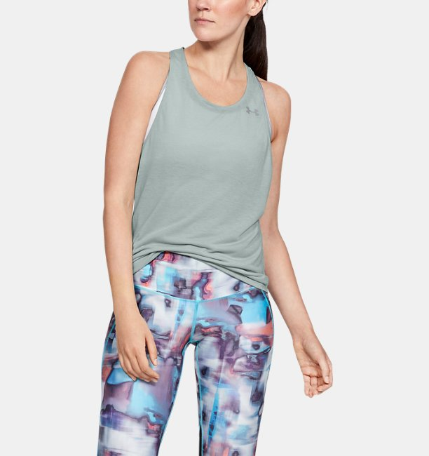 Camiseta sin mangas UA Streaker Racer para mujer