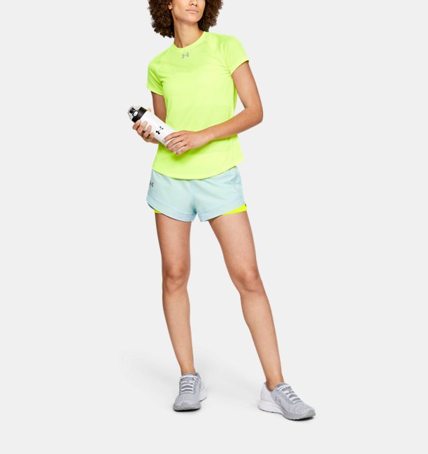 Celana Pendek UA Qualifier Speedpocket 2-in-1 untuk Wanita