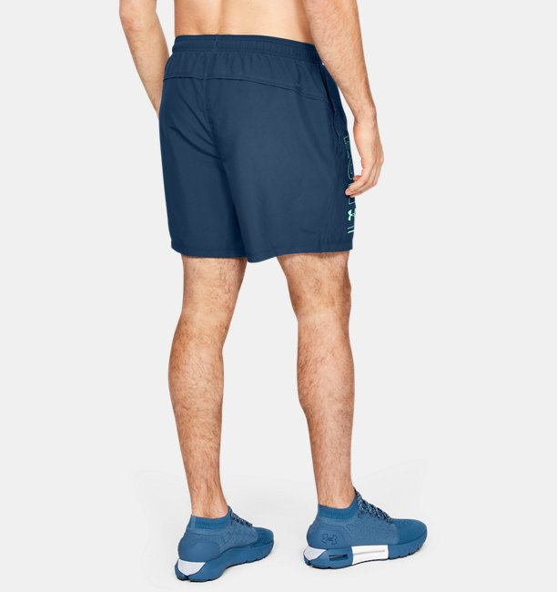 Mens UA Speed Stride 7 Branded Shorts