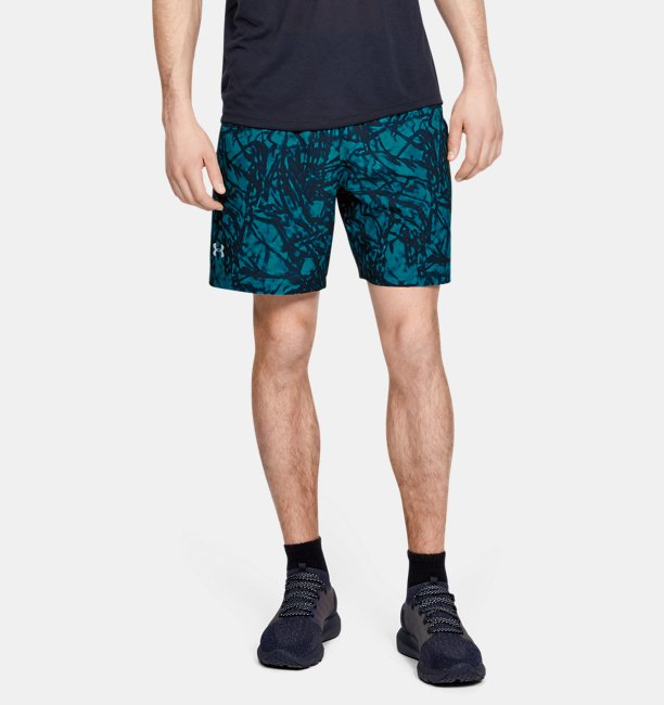 Mens UA Launch SW 7 Printed Shorts