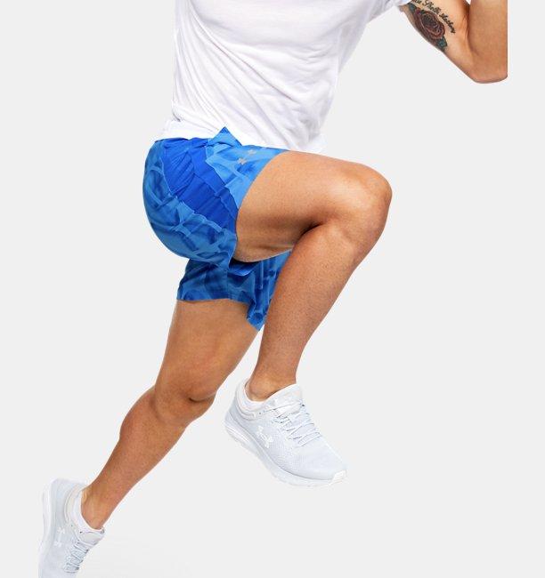 Mens UA Launch SW 7 Printed Shorts