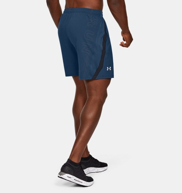 Mens UA Launch SW 7 Branded Shorts