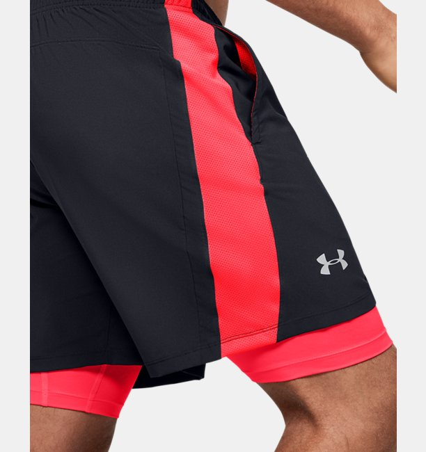 Mens UA Launch SW 2-in-1 Shorts