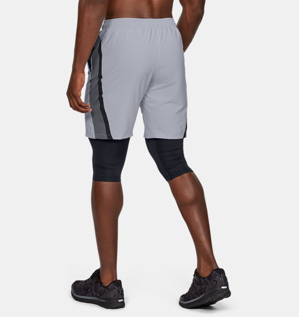 Mens UA Launch SW 2-in-1 Long Shorts