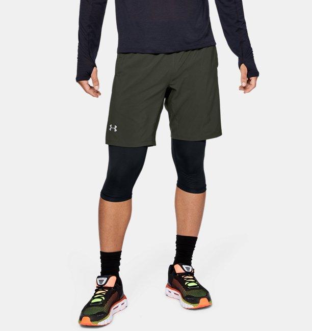 Mens UA Launch SW 2-in-1 Long Shorts