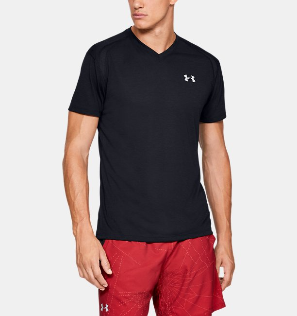 Mens UA Streaker V-Neck Short Sleeve