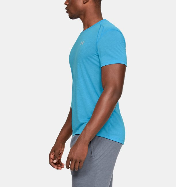Mens UA Streaker V-Neck Short Sleeve