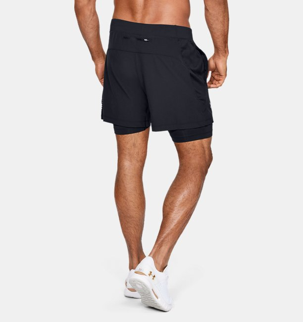 Mens UA Qualifier Speedpocket 2-in-1 Shorts