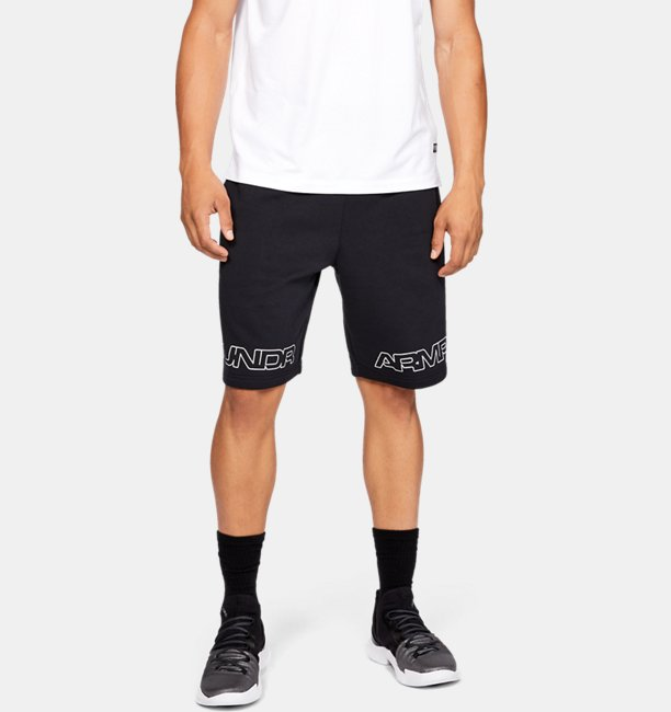 Mens UA Baseline Graphic Fleece Shorts