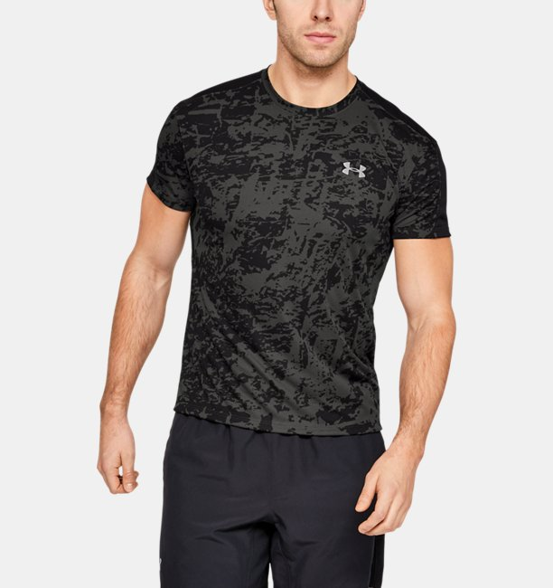 Mens UA Speed Stride Printed Short Sleeve