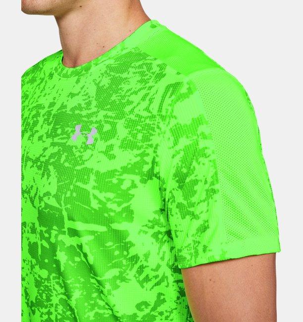 Mens UA Speed Stride Printed Short Sleeve