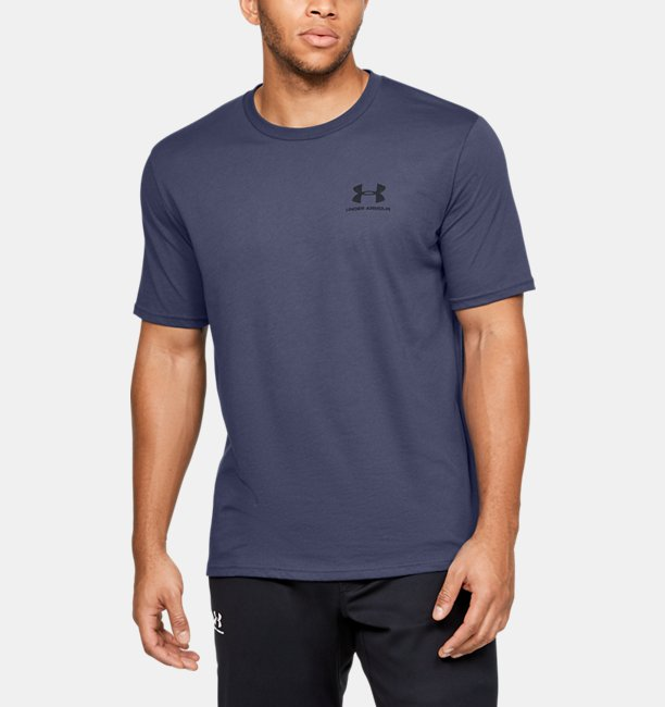 Mens UA Sportstyle Left Chest Logo T-Shirt