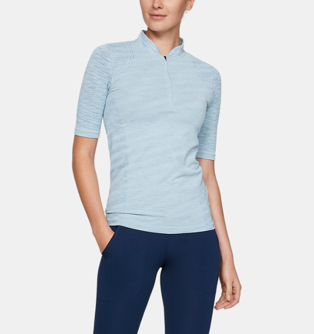 Womens UA Seamless Zip Polo