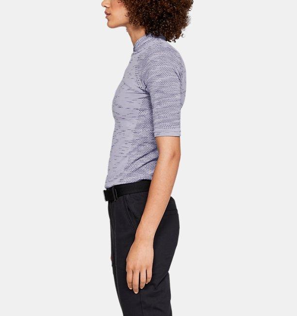 Damen UA Seamless Poloshirt mit Zip