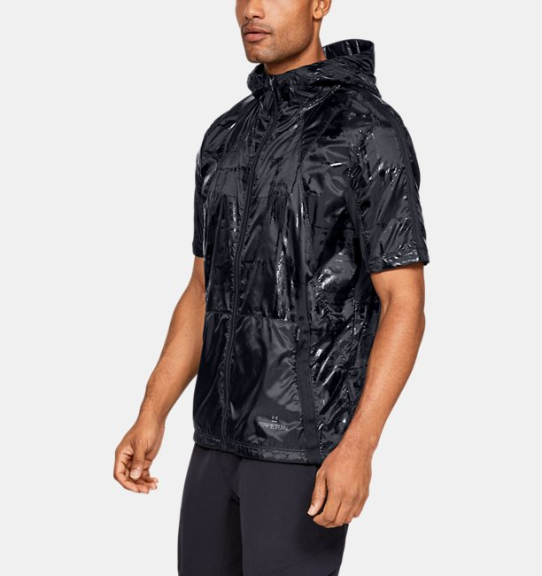 Mens UA Perpetual Short Sleeve Windbreaker