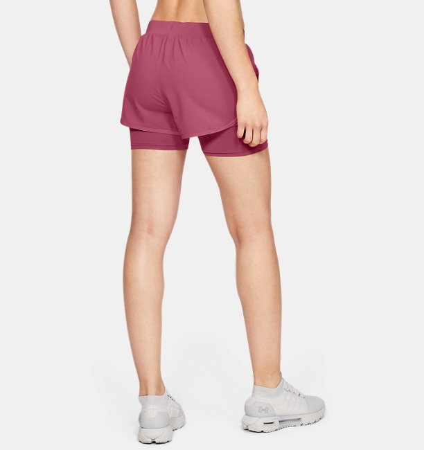 Womens UA Fly-By Mini 2-in-1 Shorts