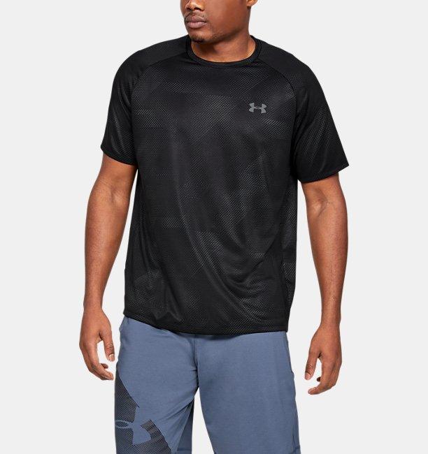 Mens UA Tech™ 2.0 Printed Short Sleeve