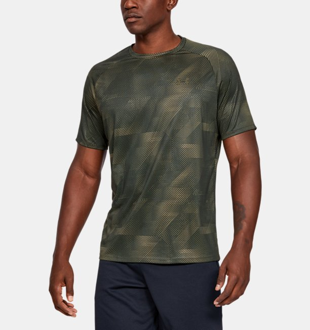 Mens UA Tech™ 2.0 Printed Short-Sleeve
