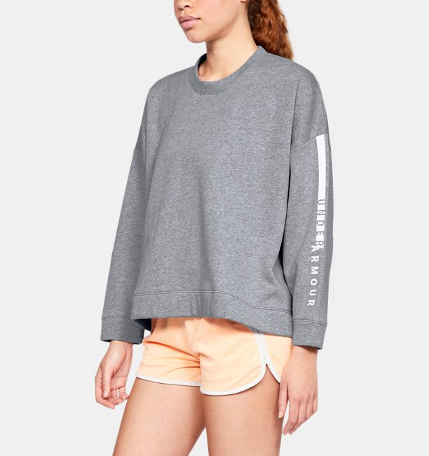 Womens UA Rival Fleece OS Crew