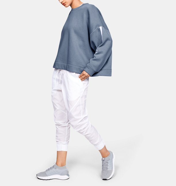 Womens UA Rival Fleece Oversize Crew
