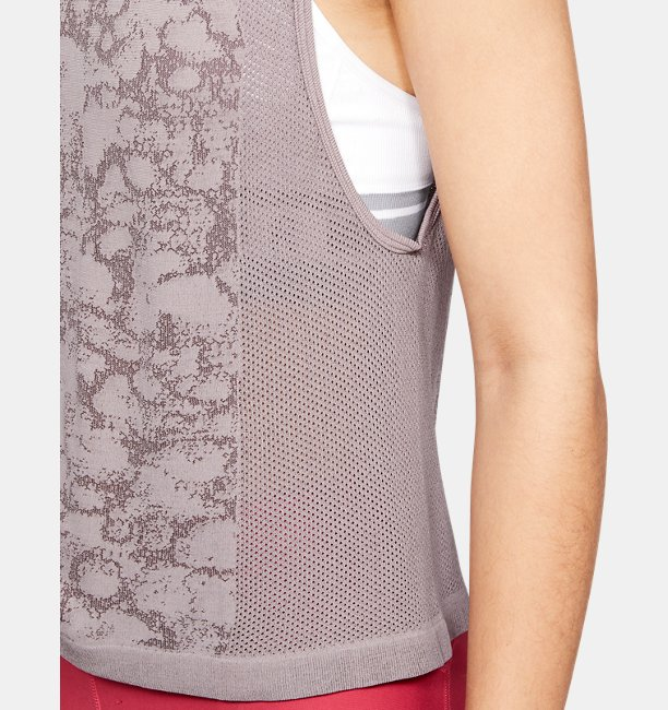 Womens UA Vanish Seamless Mesh Muscle Tank