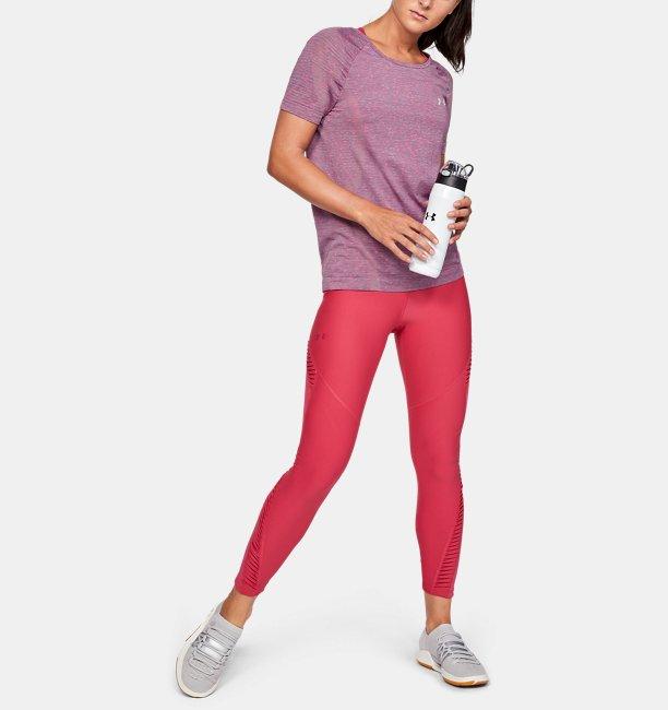 Womens UA Vanish Seamless Keyhole Spacedye Short Sleeve