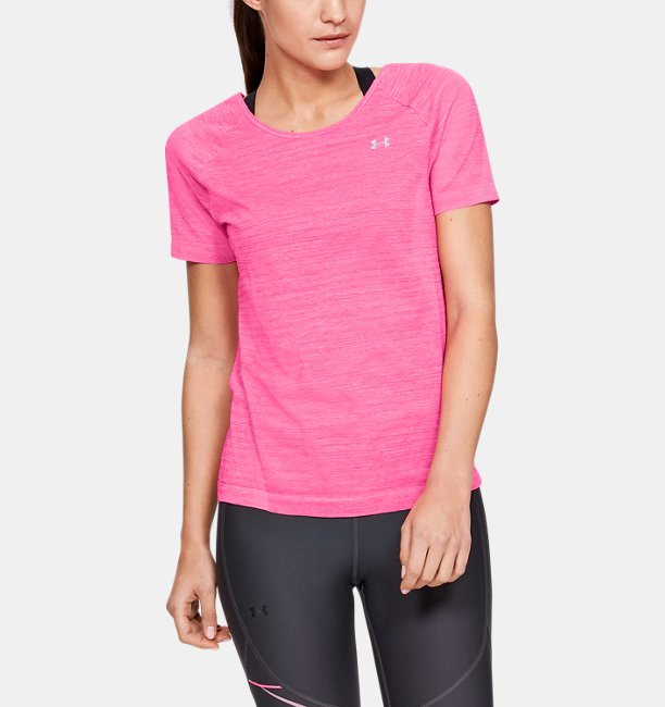 Women's UA Vanish Seamless Keyhole Spacedye Short Sleeve