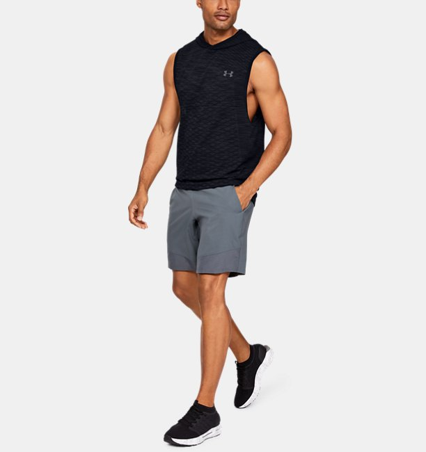 Mens UA Vanish Seamless Sleeveless Hoodie
