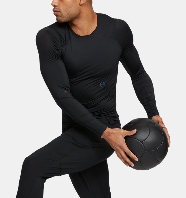 Mens UA RUSH Compression Long Sleeve