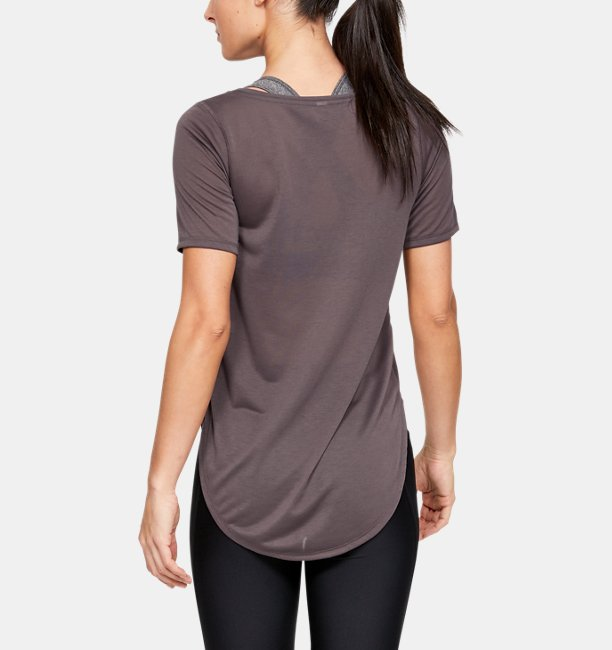 Womens UA Whisperlight Asymmetrical Short Sleeve