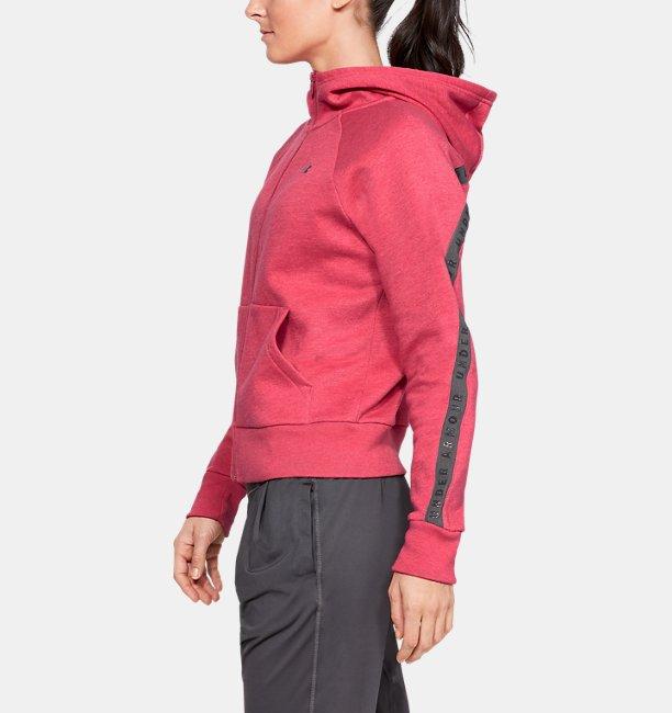 Womens UA Taped Fleece Full-Zip