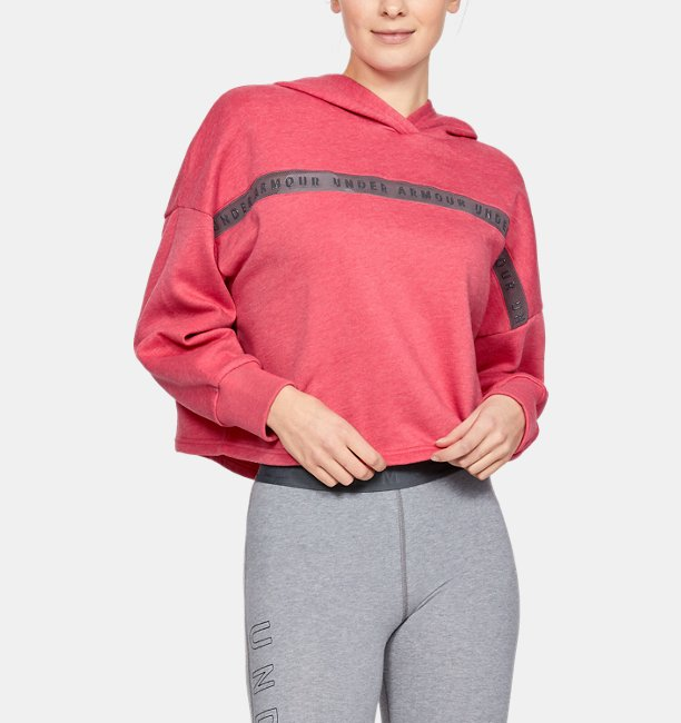 Casaco de Treino com Capuz Feminino Under Armour Taped Fleece