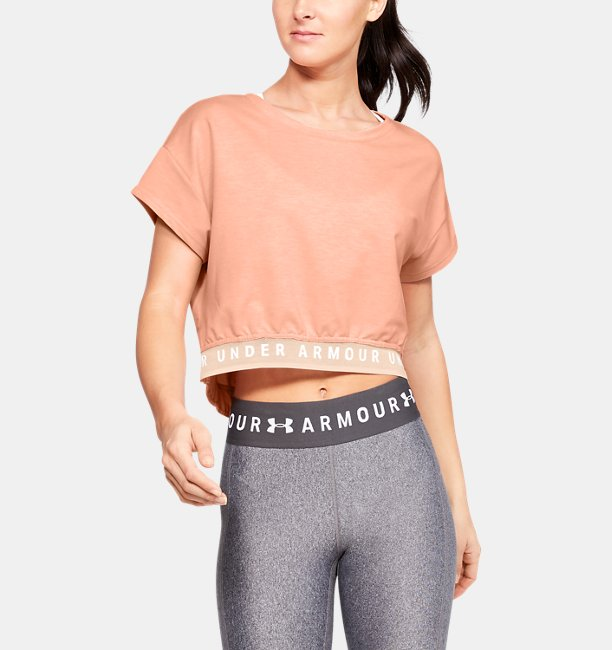 Womens UA Featherweight Fleece Crop Top