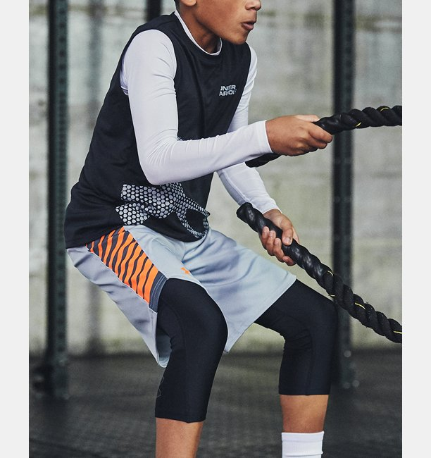 Boys HeatGear® Armour ¾ Leggings