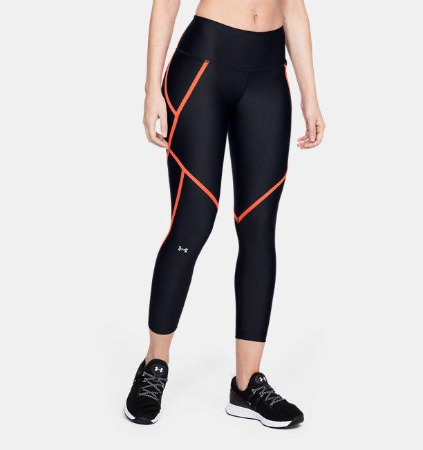 Damen HeatGear® Armour knöchellange Crop-Leggings mit seitlichen Leuchtdetails
