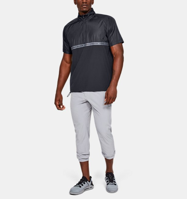 Mens UA Unstoppable Woven ½ Zip Short Sleeve