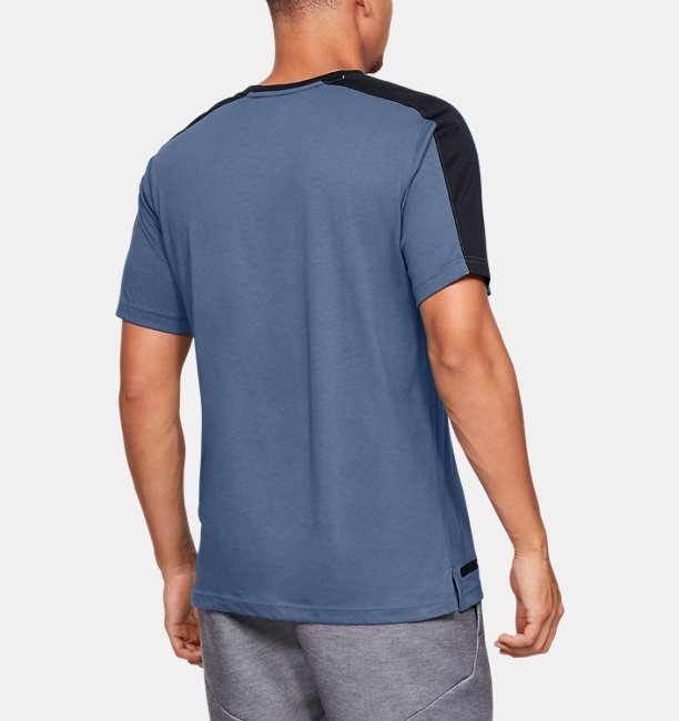 Mens UA Unstoppable Striped Short Sleeve T-Shirt