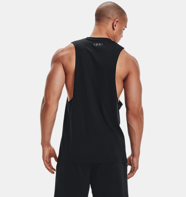 Mens UA Sportstyle Left Chest Cut-Off T-Shirt