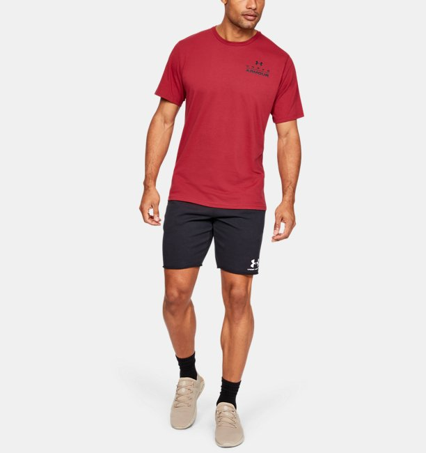 Mens UA Stacked Left Chest Short Sleeve