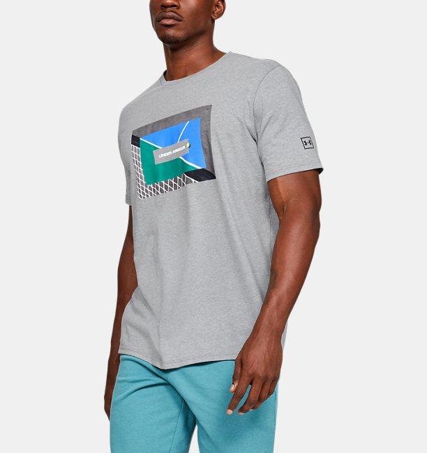 Mens UA Tennis Photoreal Split Hem Short Sleeve T-Shirt