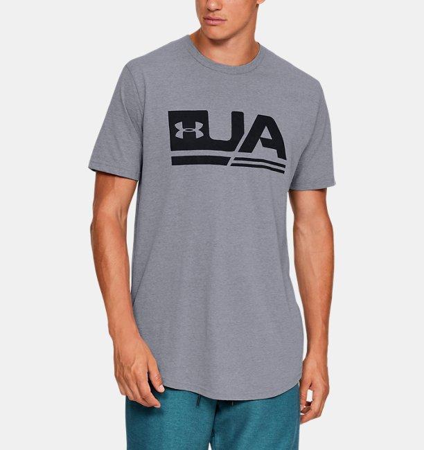 Mens UA Sportstyle Drop Hem Short Sleeve