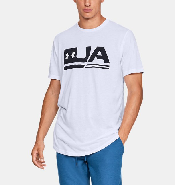 Mens UA Sportstyle Drop Hem Short Sleeve