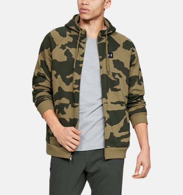 Men's UA Rival Fleece Camo Full Zip Hoodie