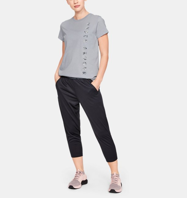 Womens UA Vertical Wordmark Graphic Classic Crew