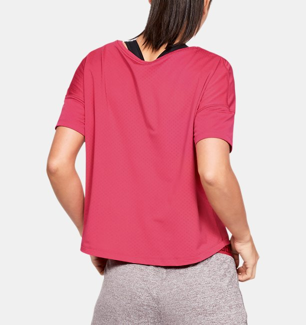 Womens UA Armour Sport Eyelet Flowy Short Sleeve