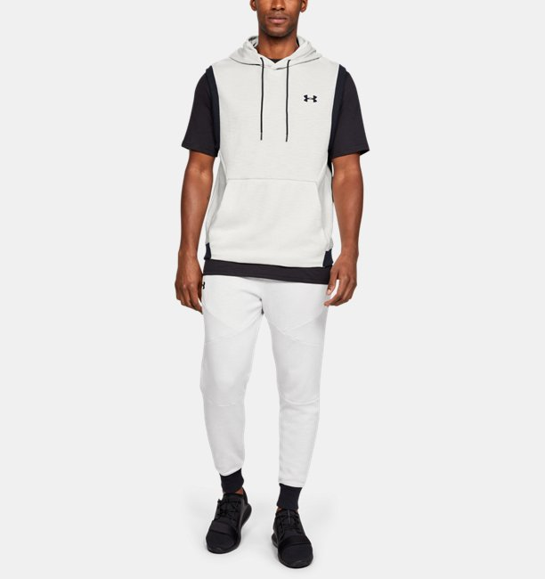 Mens UA Unstoppable Double Knit Sleeveless Hoodie
