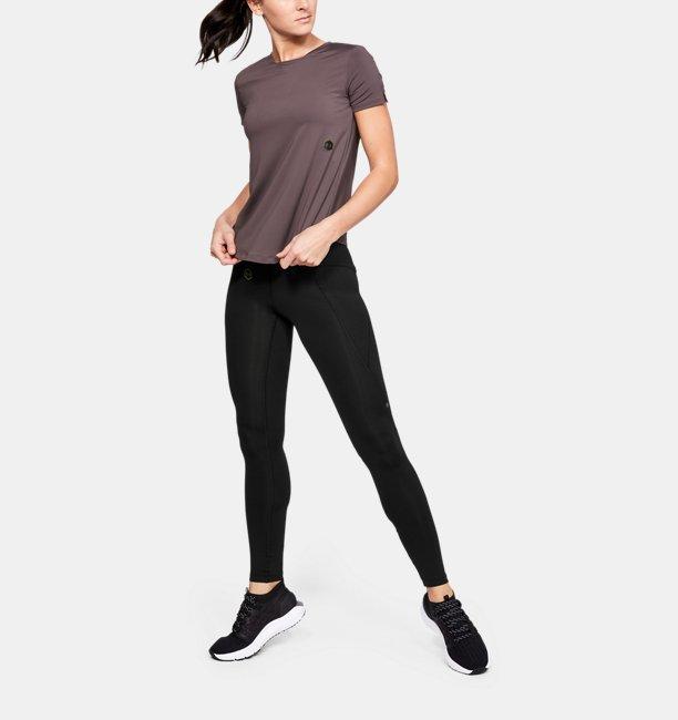 Kaos Lengan Pendek UA RUSH™ Run HeatGear® untuk Wanita