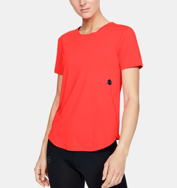 Womens UA RUSH™ Run HeatGear® Short Sleeve