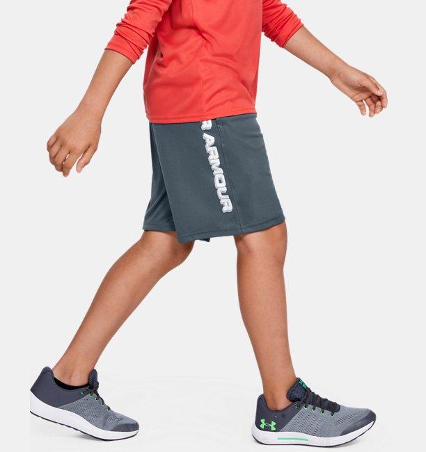 Boys UA Prototype Wordmark Shorts